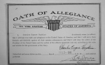 "Paper Document of U.S. Navy ""Oath of Allegiance"" of Charles HOPKINS"