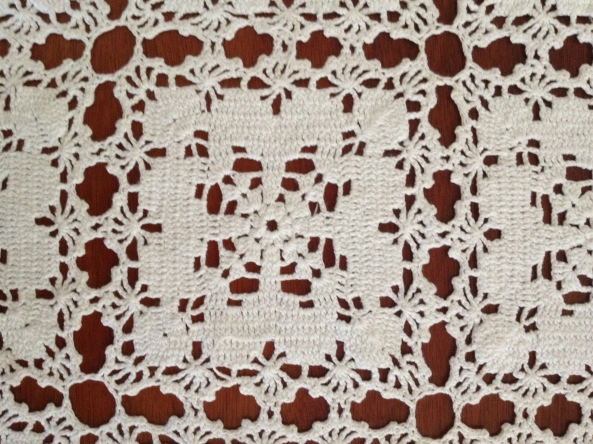 Crochet Bedspread by Eula Mae HOLDER LINN close up of pattern