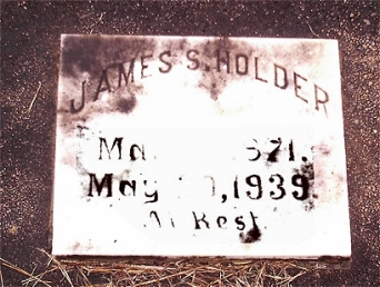 Headstone of James Solomon HOLDER