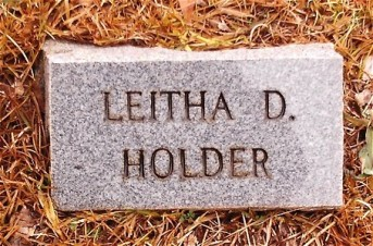 Memorial Headstone of Leitha D. HOLDER