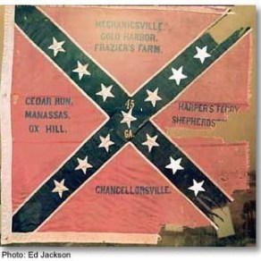 45 GA Regiment Flag of the Civil War
