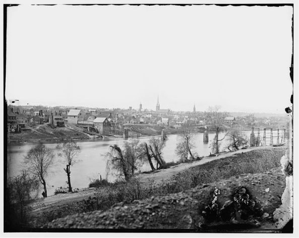 Rappahannock River and view of Fredericksburg VA 1862 photo by Timothy O'Sullivan