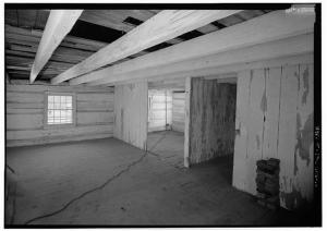 Interior of a small cabin