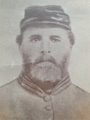 Portrait of kindred Alfred Martin LINN in Civil War Uniform