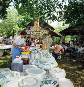 Family Reunion food table