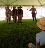 Ranger Standing Next to Civil War Soldiers