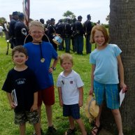 Children Posed with Civil War Drill Parade