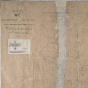 1869 Map of Bartow County GA