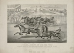 Drawing of Horse and Buggy Racing