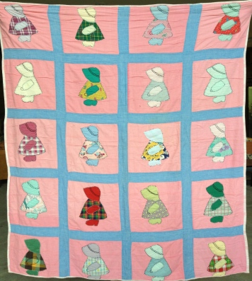 Sunbonnet Sue Quilt made by Eula Mae HOLDER LINN