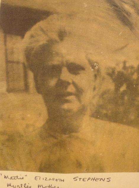 Martha 'Mattie' STEPHENS DENTON  in later years