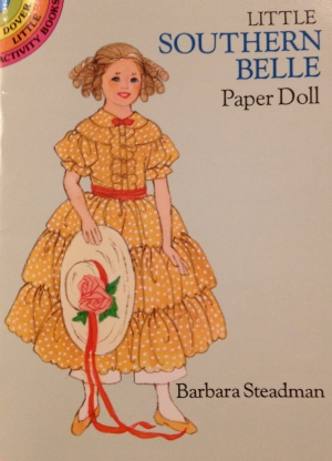 "Cover of ""Little Southern Belle Paper Doll"" Booklet"