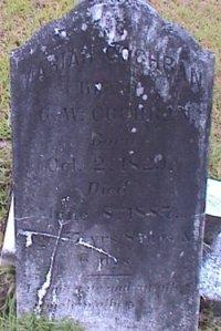 Head Stone of Mariah SHELLNUT in Bethlehem Baptist Church Cemetery, Campbell County GA