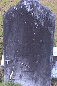 Head Stone of Mariah SHELLNUT in Bethlehem Baptist Church Cemetery, Campbell County GA