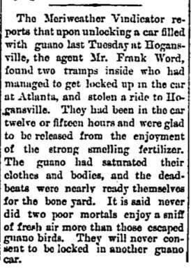 Clipping from the Dublin Post 10 March 1880