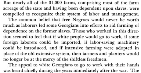"""Excerpt from """"A Century of Georgia Agriculture 1850-1950"""" by Willard Range"""