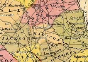 1846 Map of Madison County GA