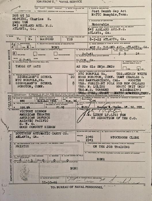 Discharge from U.S. Navy