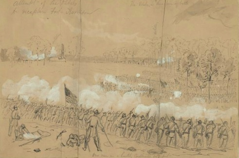 Rebel Attempt to capture Fort Harrison - Library of Congress