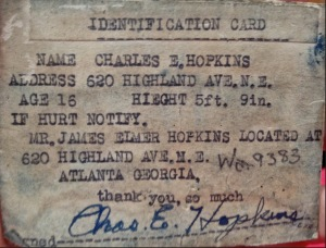 Charles Hopkins ID Card